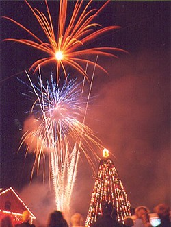 Ladysmith celebrates the winter season with fireworks