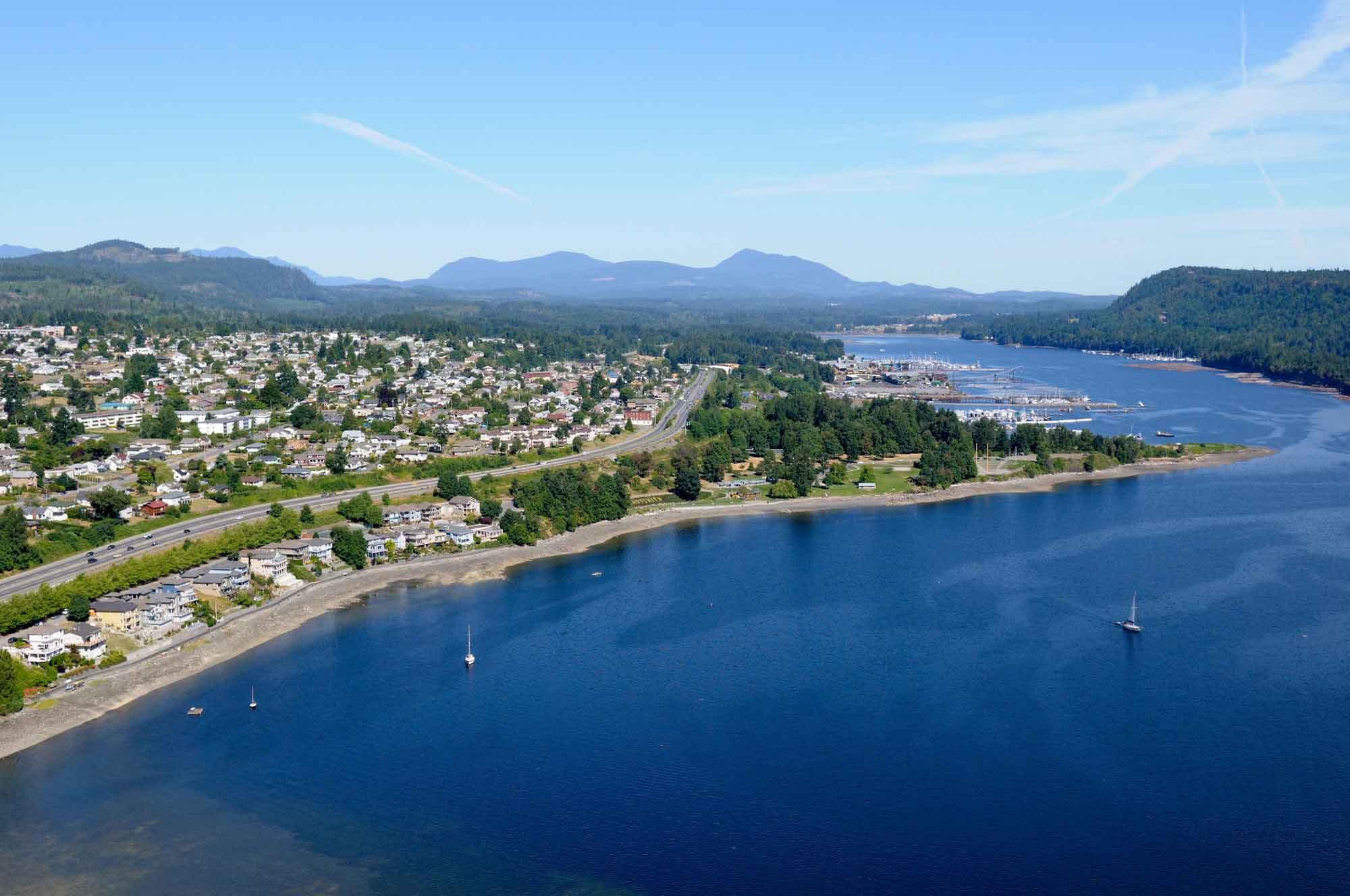 Aerial view of Ladysmith, BC